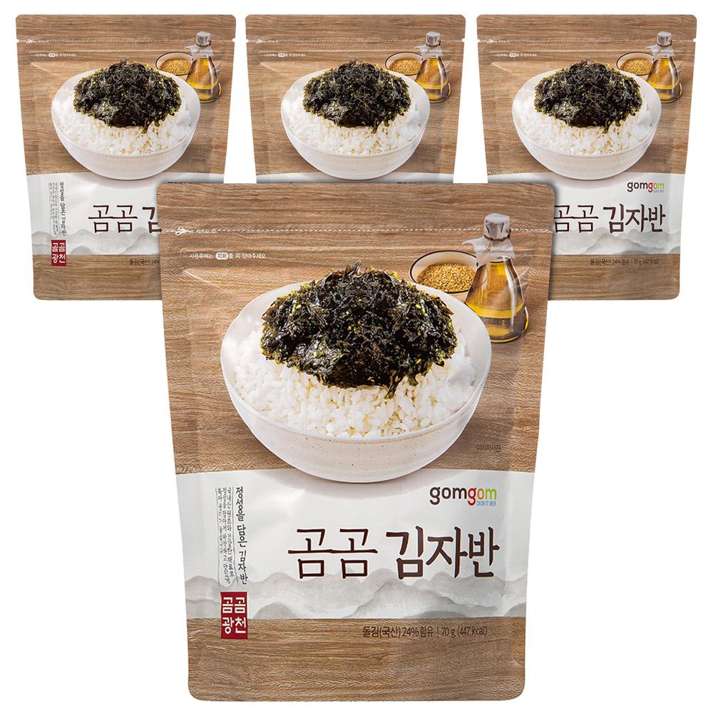 곰곰 김자반, 70g, 4개입
