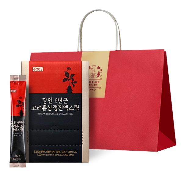 홍정관장인 6년근 고려홍삼정진액스틱 + 쇼핑백, 10ml, 100개