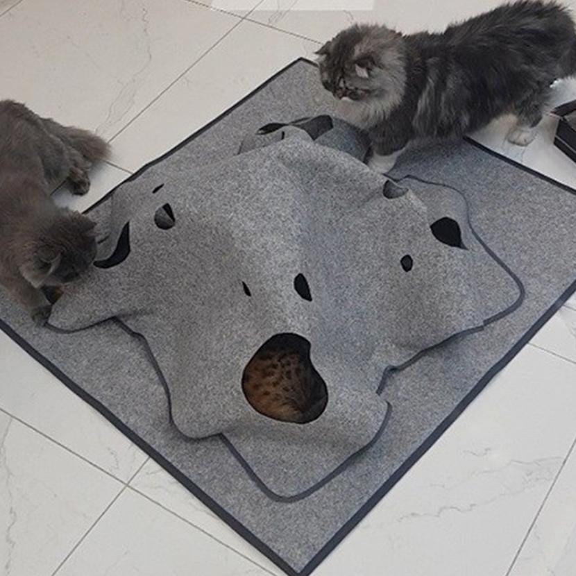 페로가토 고양이 놀이방 정글매트, 그레이, 1개