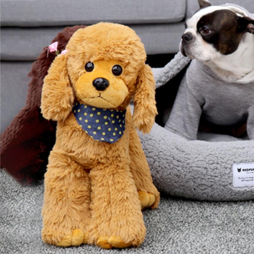레드퍼피 강아지 애착인형 푸들 35 x 38 cm, 다크브라운, 1개