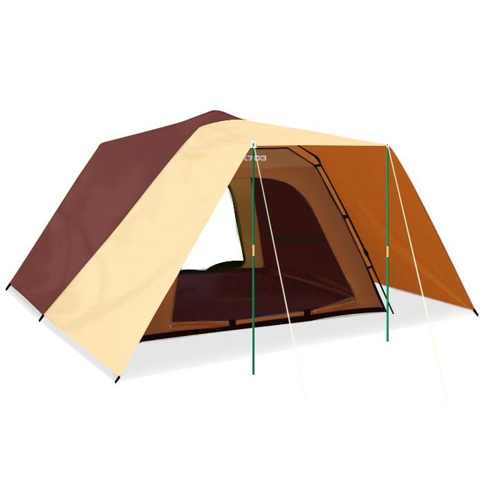 buck703 국내산 자동텐트 원터치 캠핑 그늘막텐트, 브라운, 5~6인용