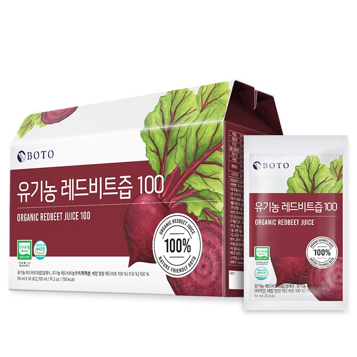 보뚜 유기농 레드비트즙 100, 90ml, 30개입
