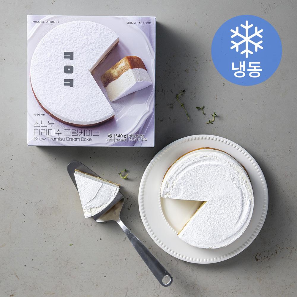 ㅋㅇㅋ 신세계푸드 스노우 티라미수 크림케이크 (냉동), 340g, 1개