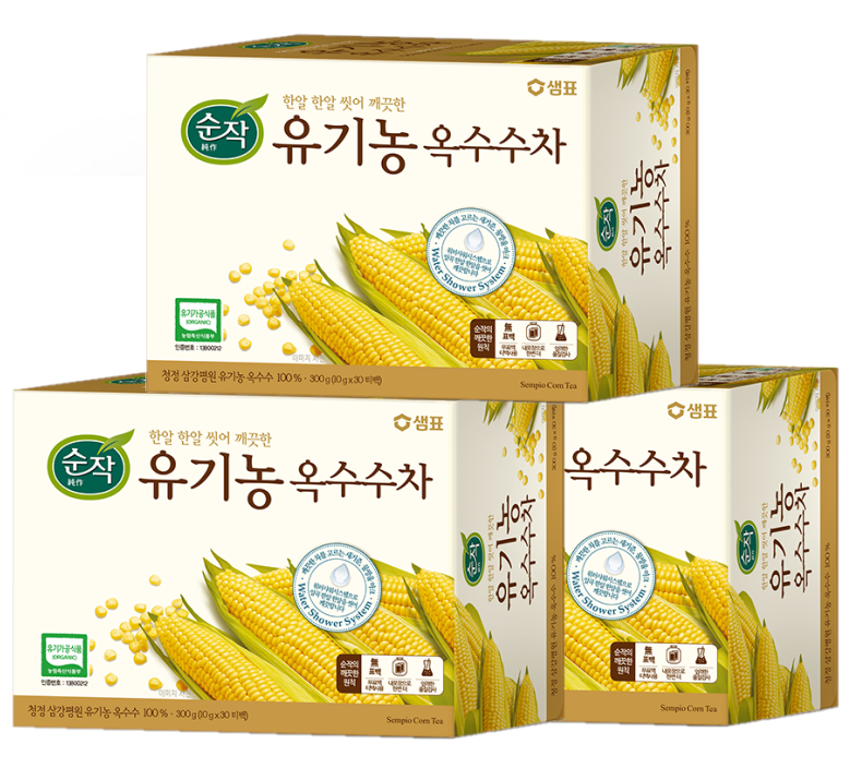 순작 유기농 옥수수차, 300g, 3개
