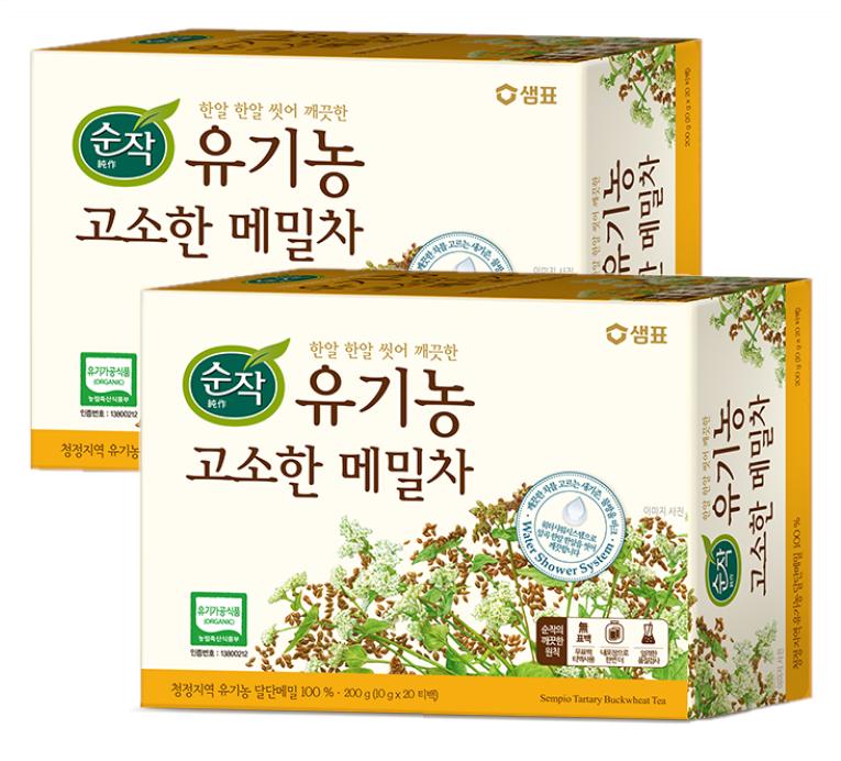 순작 유기농 고소한 메밀차, 200g, 2개
