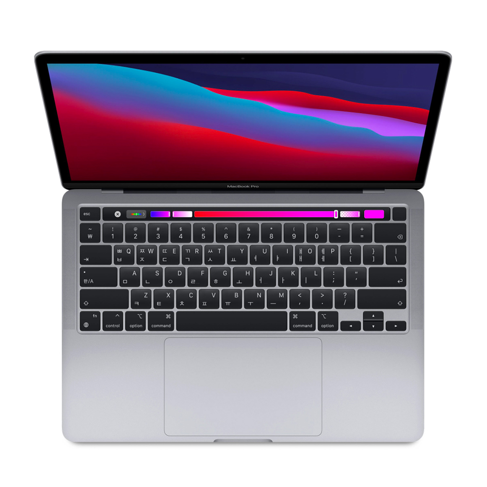 Apple 2020년 맥북 프로 13 (M1 칩셋 8코어 CPU 8코어 GPU), 16GB, SSD 512GB, 스페이스 그레이