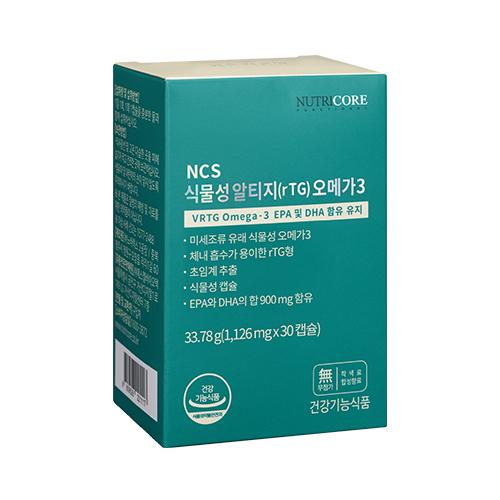 뉴트리코어 NCS 식물성알티지오메가3, 30정, 1개