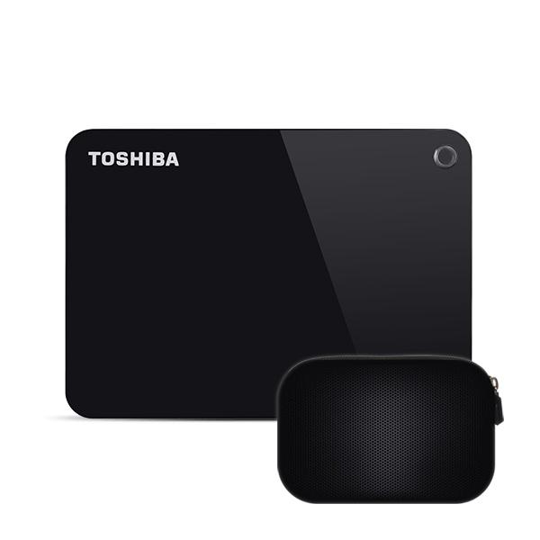 도시바 칸비오 어드밴스 외장하드 DTC920 + 파우치, 2TB, 블랙