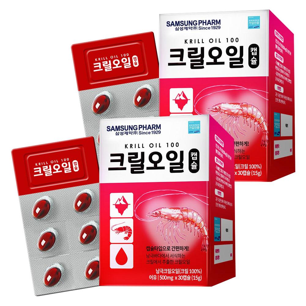 삼성제약 크릴오일캡슐, 30정, 2개