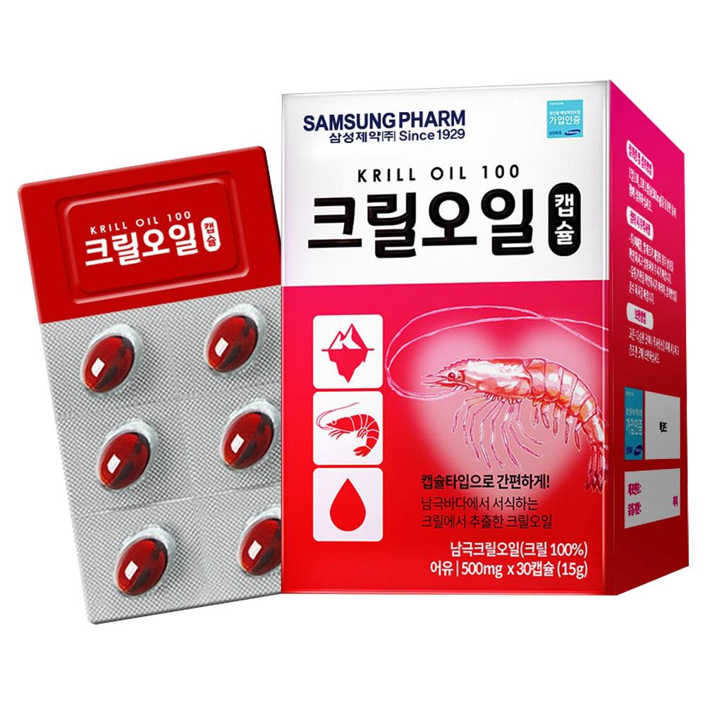 삼성제약 크릴오일캡슐, 30정, 1개