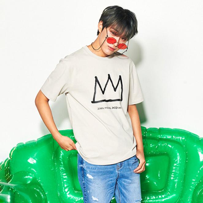 클라이드앤 남녀공용 바스키아왕관 반팔티셔츠