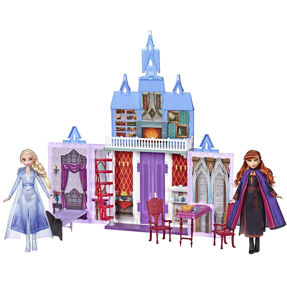 겨울왕국2 프리미엄 선물세트 아렌델 궁전 + 엘사 + 안나 인형 세트, 혼합 색상
