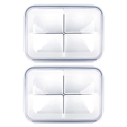 제오닉 항균 나눔찬통 4칸 1500ml, 2개입, 단품