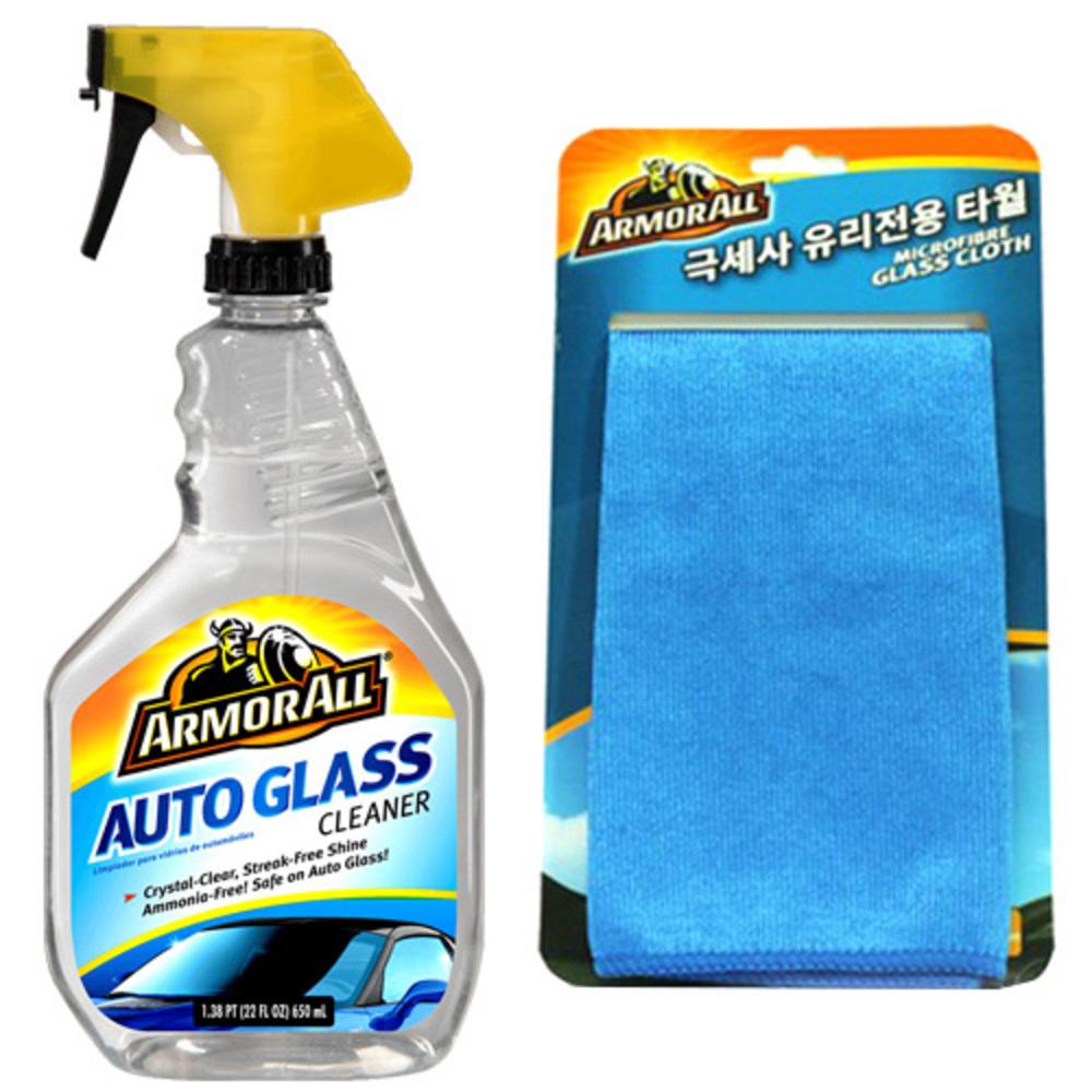 아머올 자동차용 유리세정제 650ml + 극세사 유리전용타월, 1세트