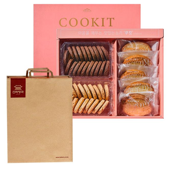 신라명과 쿠킷 과자세트 + 쇼핑백, 더블원 아몬드쿠키 + 더블원 초코쿠키 + 파리지앵 러스킷, 1개