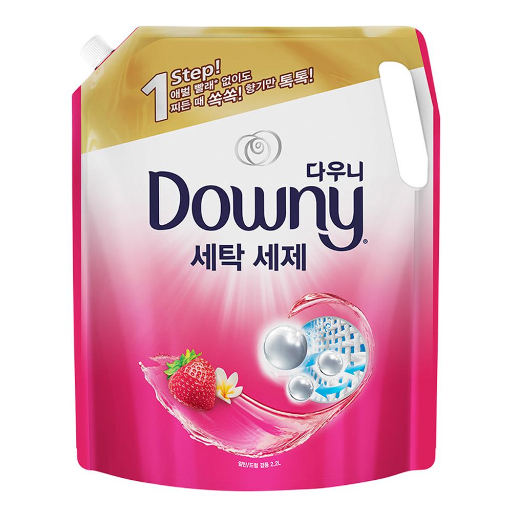다우니 프리미엄 액체형 세제 핑크 리필, 2.2L, 1개
