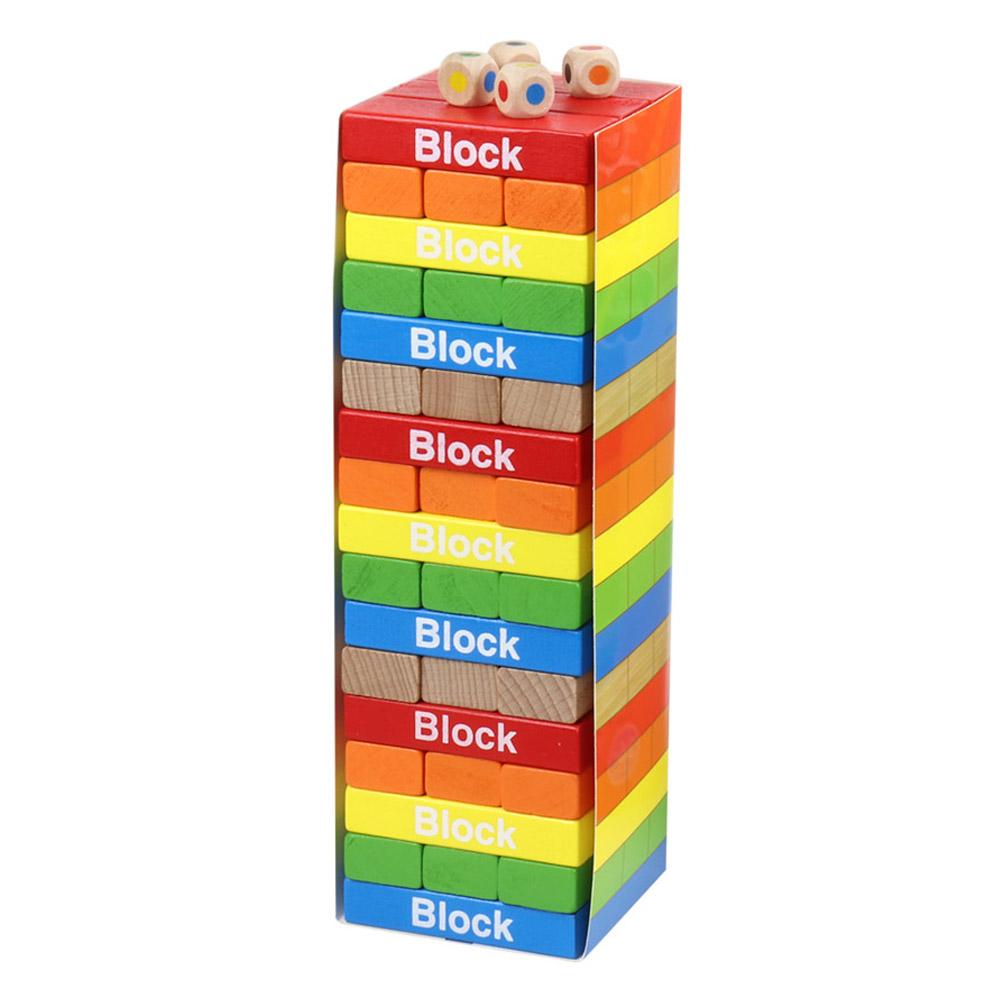 [Gold box] 토도리브로 원목 게임 블록, 혼합색상, 1개 - 랭킹1위 (12790원)