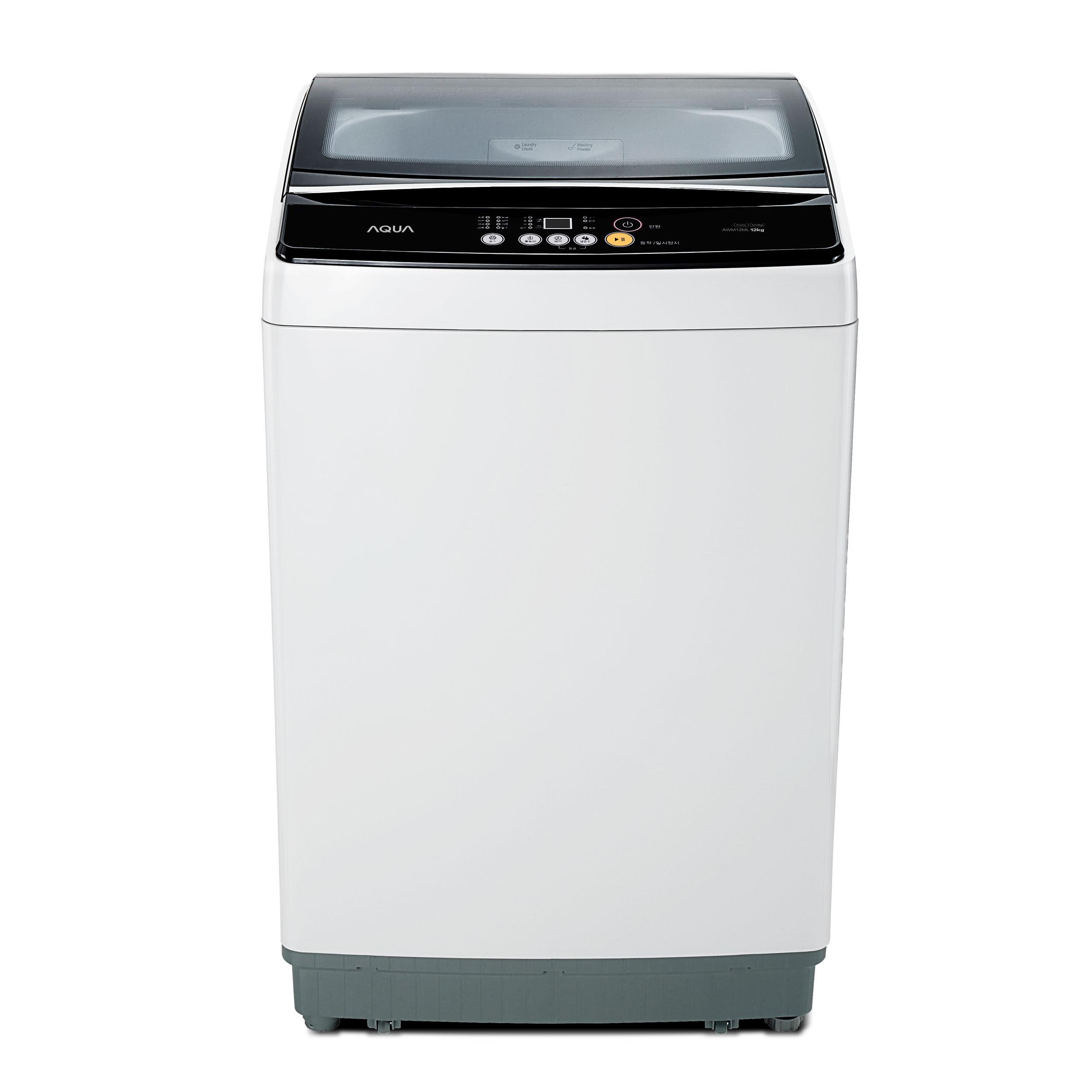 하이얼 AQUA 소형 일반통돌이세탁기 12kg 방문설치, AWM12ML(라이트그레이)