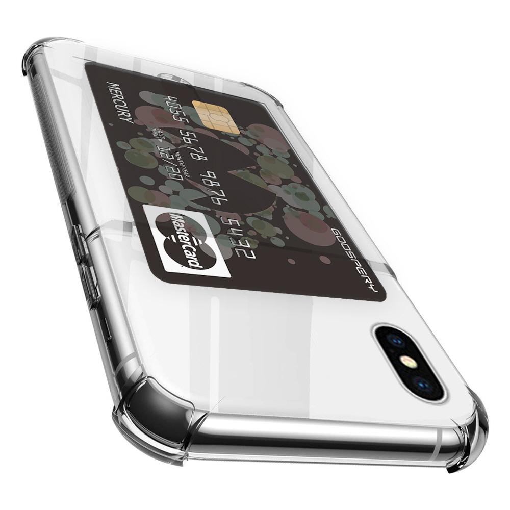 구스페리 하이브리드 에어백 카드포켓 젤리 휴대폰 케이스
