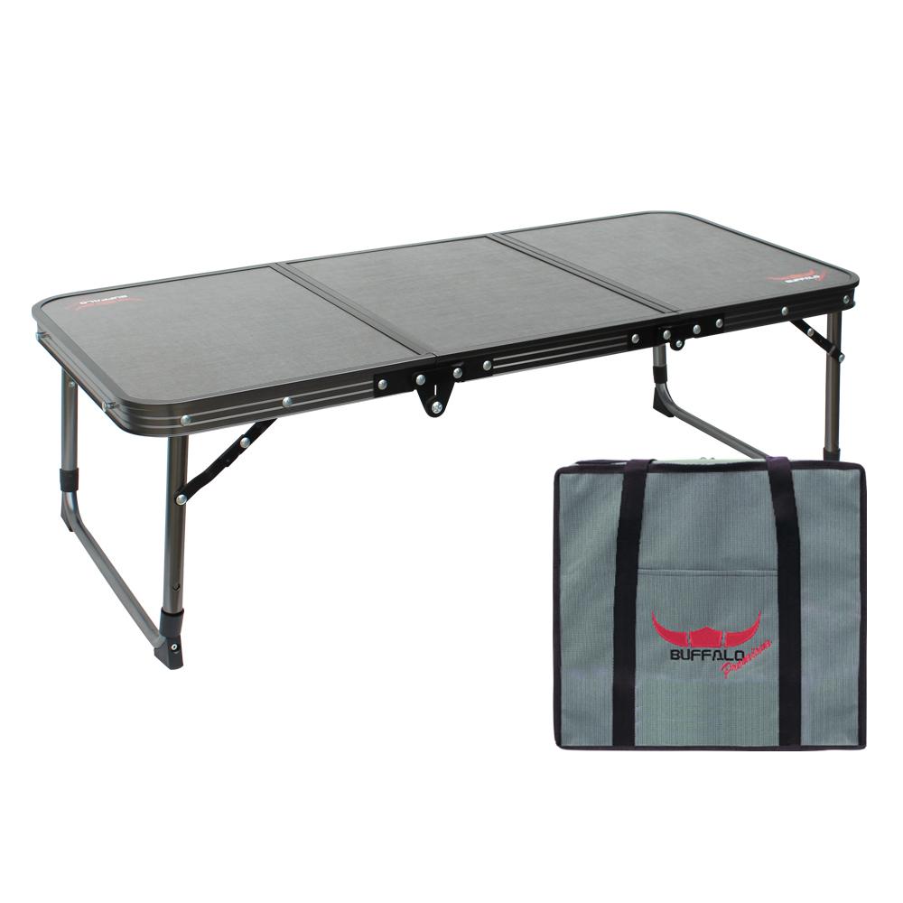 버팔로 프리미엄 티탄 3폴딩 리프트 미니 테이블, 블랙