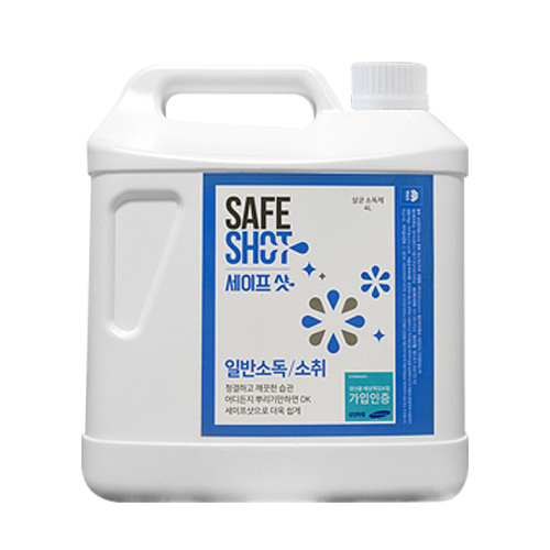 세이프샷 살균소독제 리필, 4L, 1개