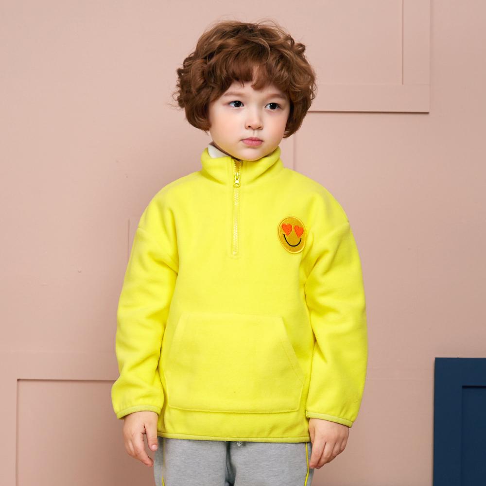 월튼키즈 아동용 컬러 하이넥 후리스 티셔츠