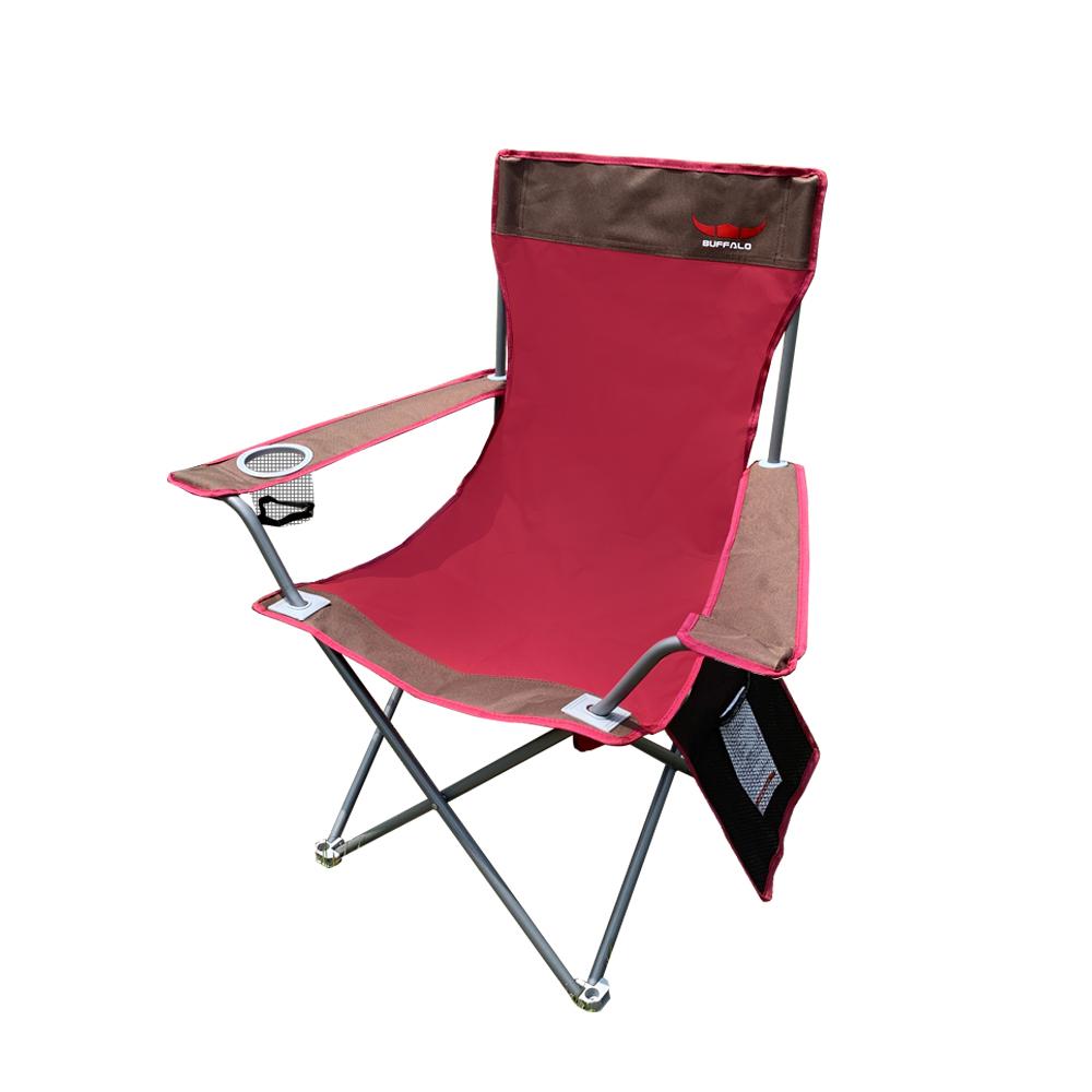 버팔로 더블 뉴 와이드 캠핑체어 + 보관가방, 레드, 1세트
