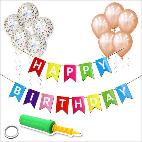 베이비베이커리 생일 가랜드 이지 홈파티세트, 혼합 색상, 1세트