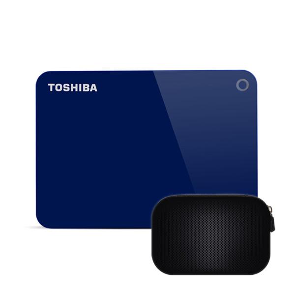 도시바 칸비오 어드밴스 외장하드 DTC940 + 파우치, 4TB, 블루