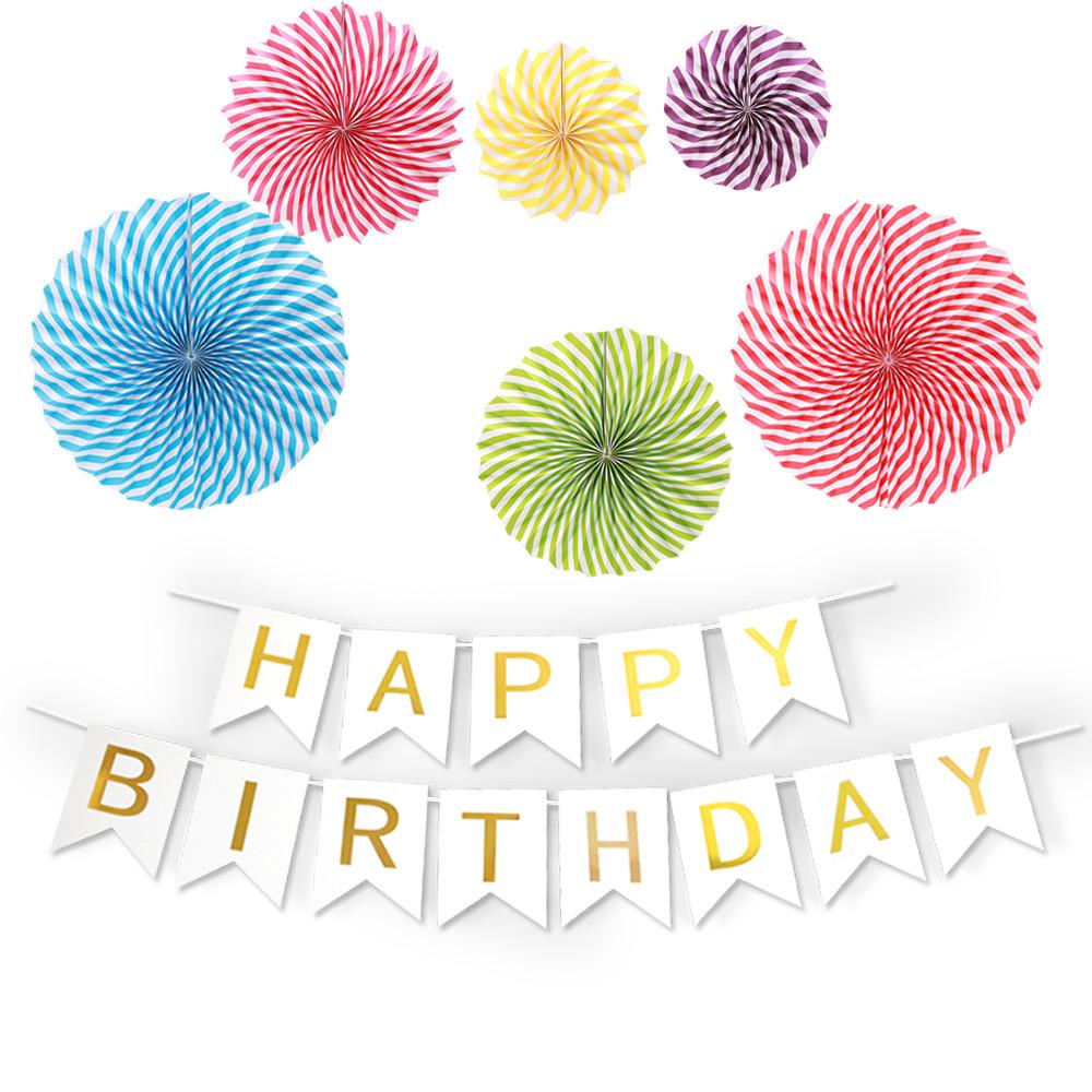 파티공구 생일가랜드 파티팬데코세트, 롤리팝, 1세트