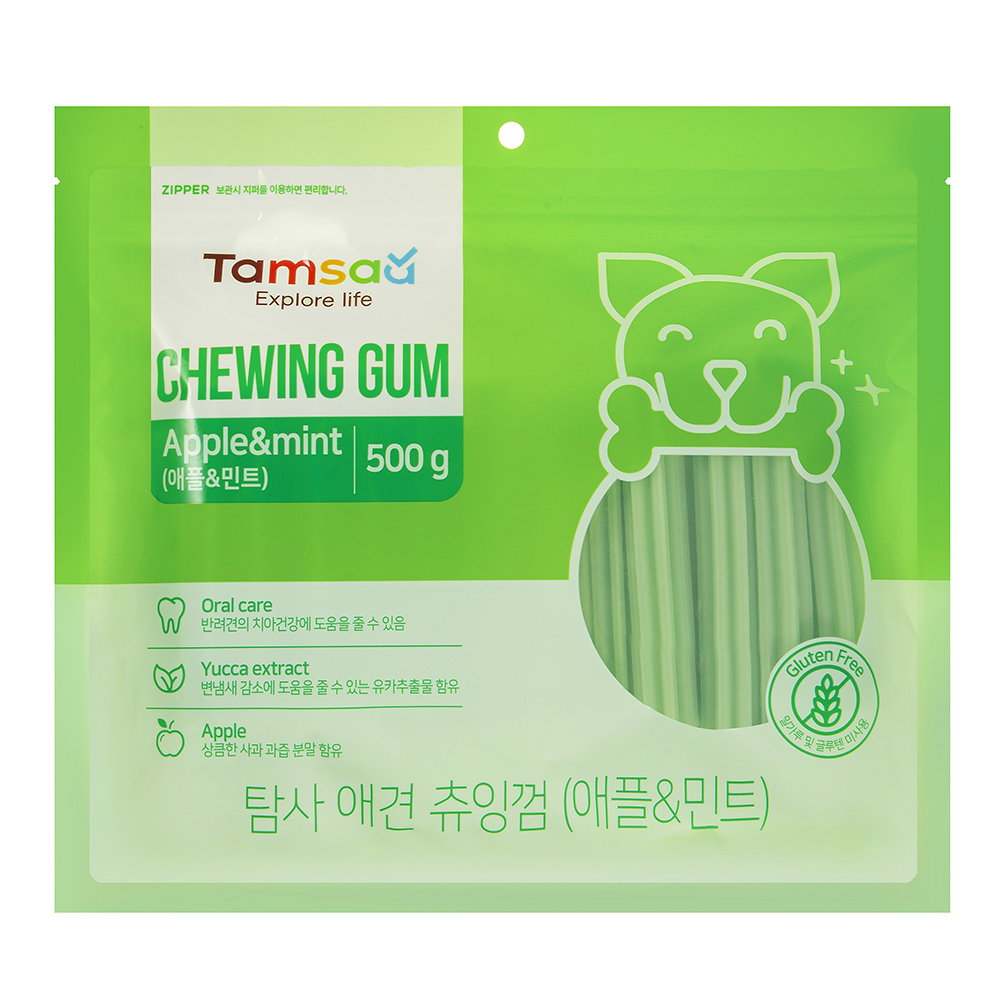 탐사 강아지 덴탈 츄잉껌 500g, 애플민트, 1개