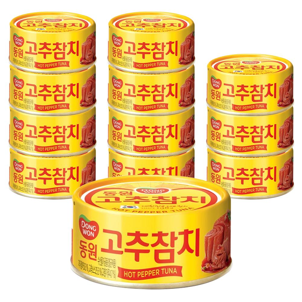 [통조림] 동원 고추 참치, 85g, 12개 - 랭킹40위 (15210원)