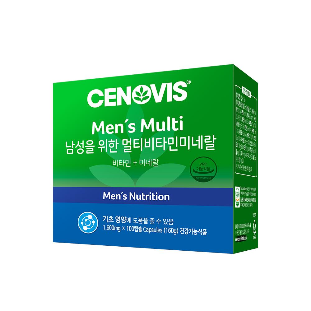 [남성 종합영양제] 세노비스 남성 멀티 비타민 미네랄, 100정, 1개 - 랭킹1위 (46310원)