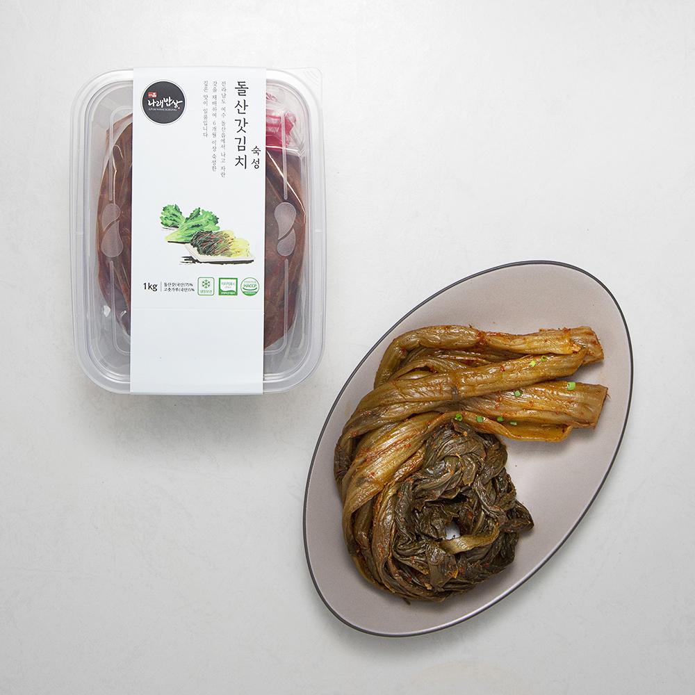 나래밥상 돌산갓김치 숙성, 1kg, 1개