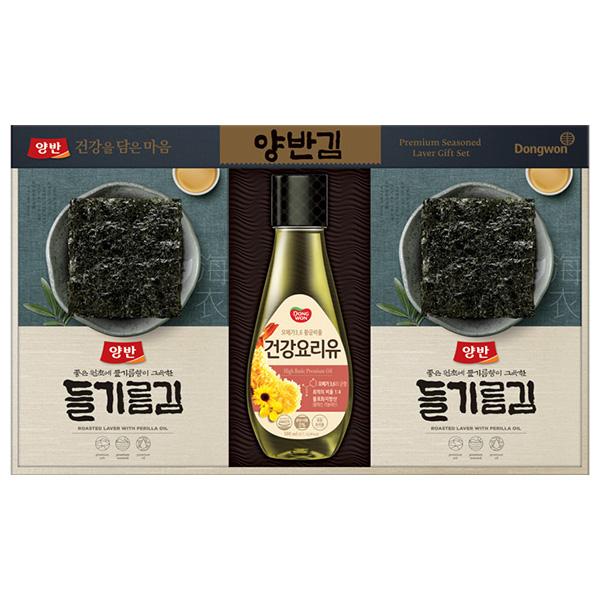 양반 김 혼합 선물세트 3-S호 + 쇼핑백, 1세트