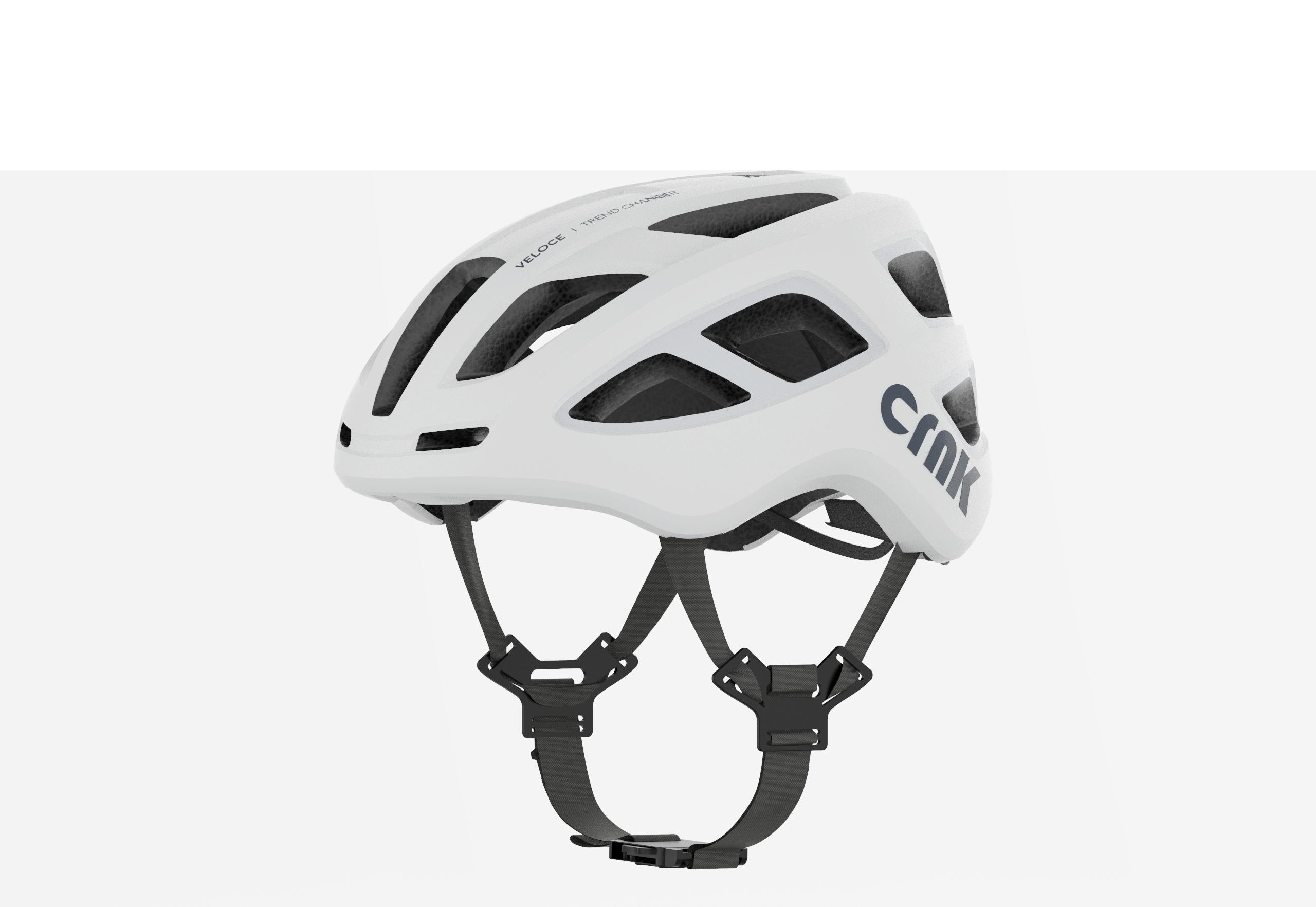 크랭크 VELOCE 자전거 헬멧, White