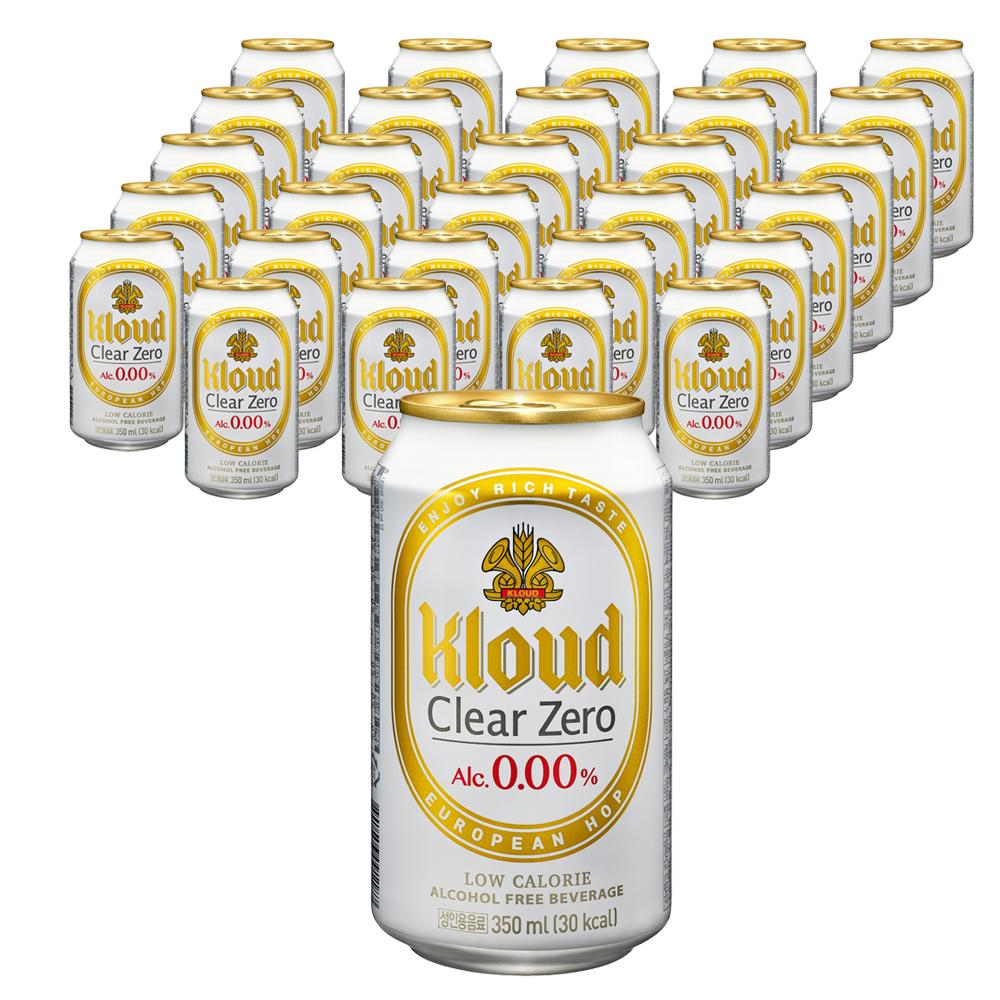 롯데칠성음료 클라우드 클리어 제로 24p, 24개, 350ml