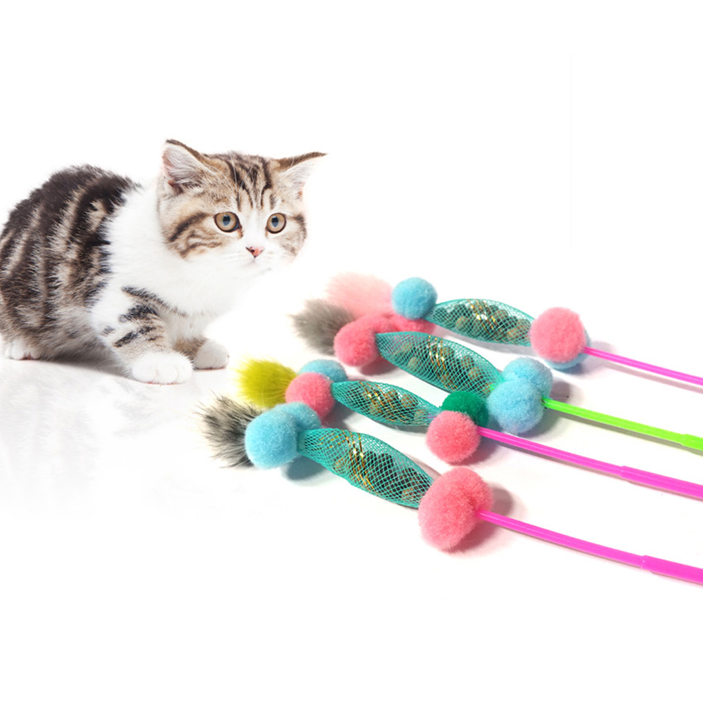 힐링타임 고양이 장난감 캣닢 폼폼스틱 NH-0187, 랜덤 발송, 4개입