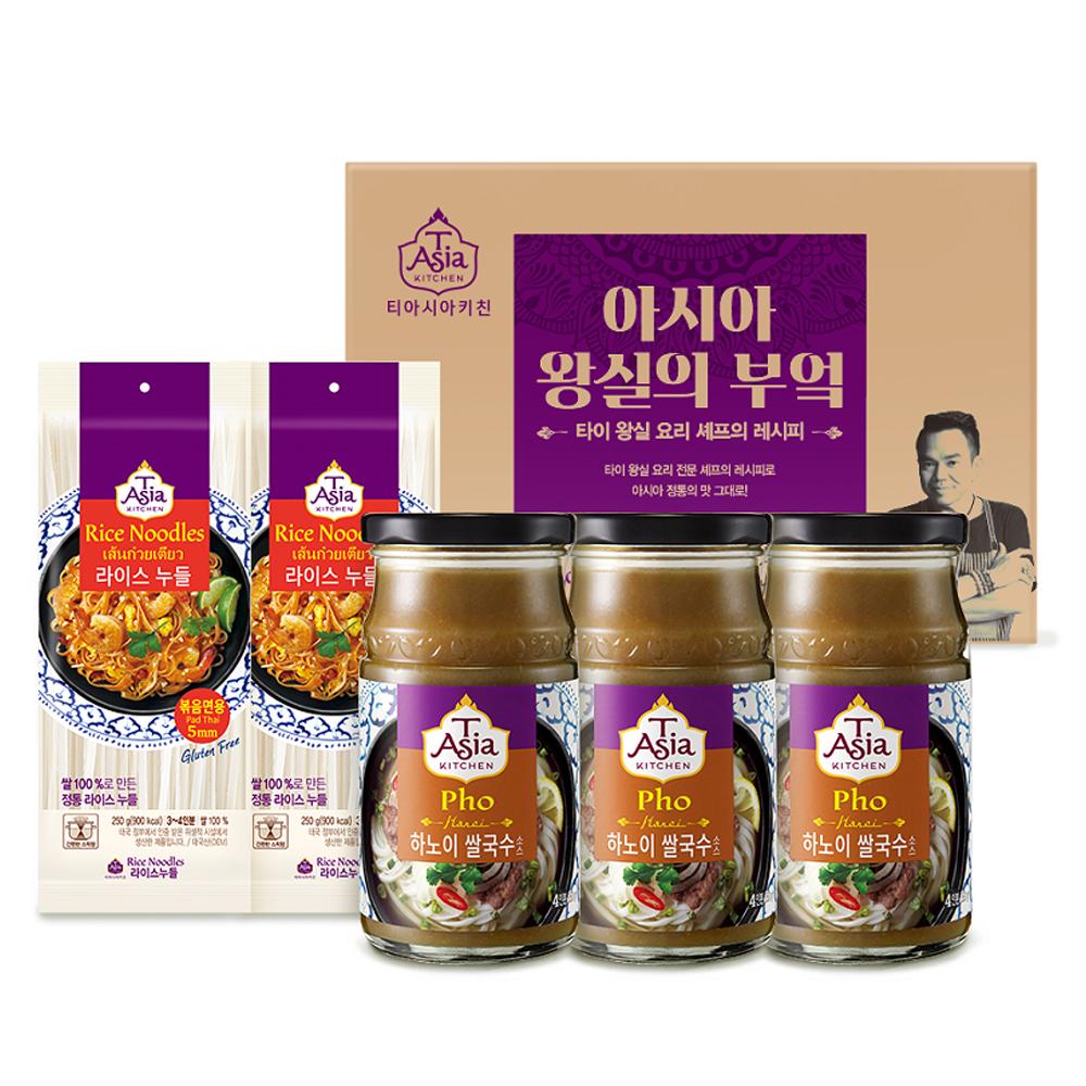 티아시아 쌀국수 소스 350g x 3p + 라이스 누들 5mm 250g x 2p 세트, 1세트