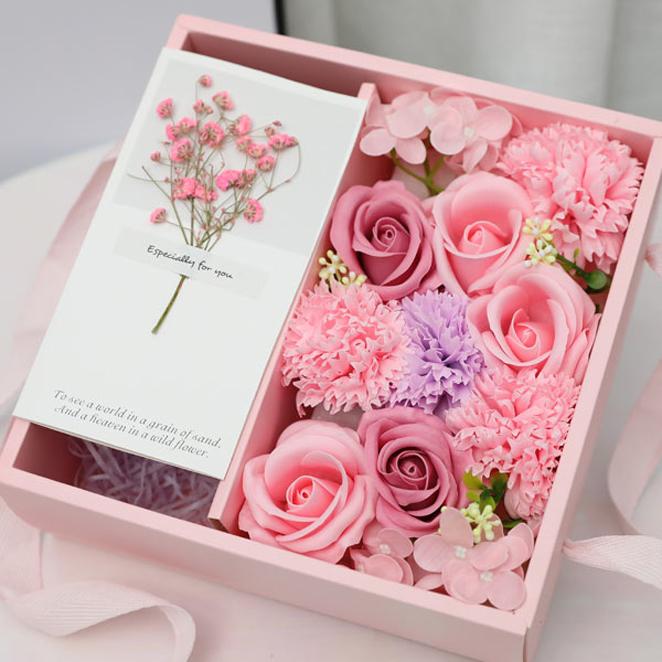 데코코마니 비누꽃 사랑가득 용돈박스, 핑크