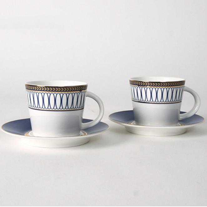 벨루즈까사 임페리얼 2인조 세트 커피잔, 혼합 색상, 1세트