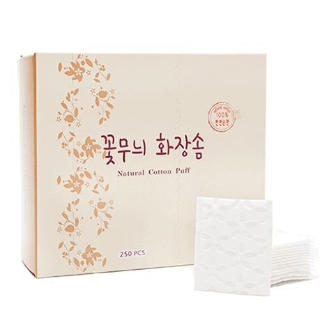 코튼인 꽃무늬 화장솜, 250개입, 1개