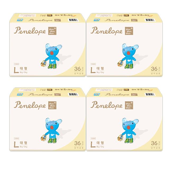 페넬로페 씬씬씬 플러스 밴드기저귀 공용 대형(8~12kg), 144매