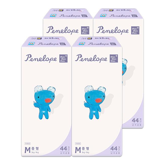 페넬로페 씬씬씬 플러스 밴드형 기저귀 중형(5~9kg), 176매