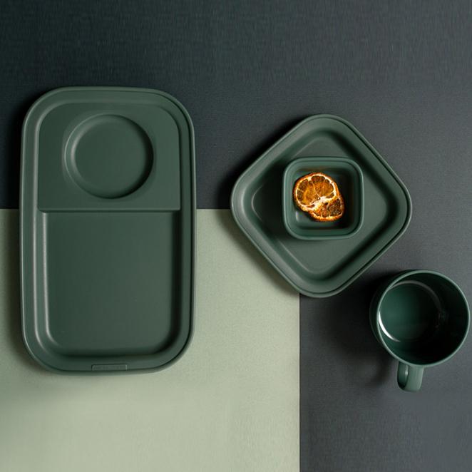 나인웨어 올디너리 테이블 시리즈 브런치세트, 빈티지그린, 브런치 테이블 + 스프컵 + 소스볼 + 사각접시