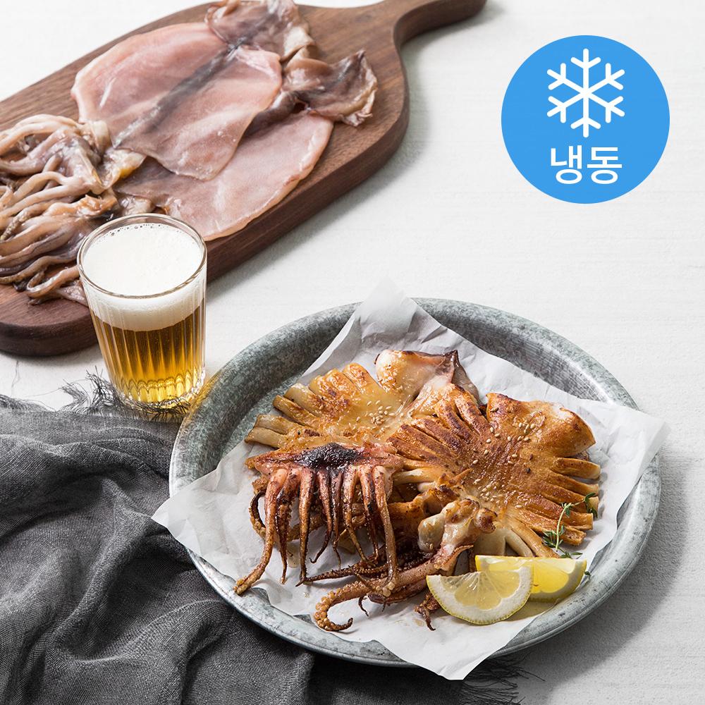 포항시 인증 구룡포 반건 오징어 5미 (냉동), 500g, 1개