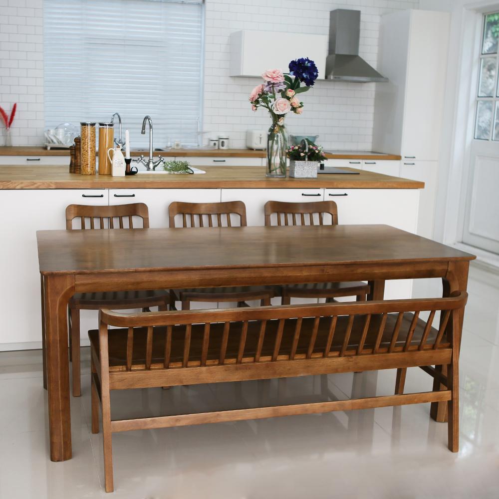 참갤러리 밀레 원목 식탁 세트 6인용 방문설치, 혼합색상
