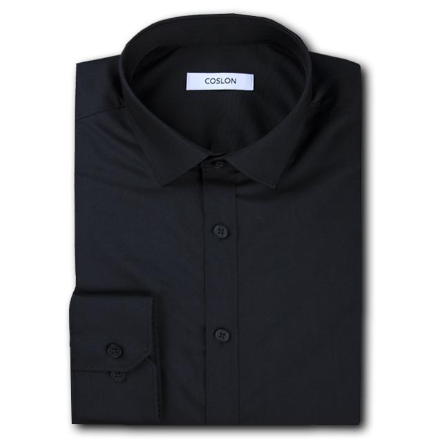 COSLON 남성용 슬림 스판 긴팔셔츠