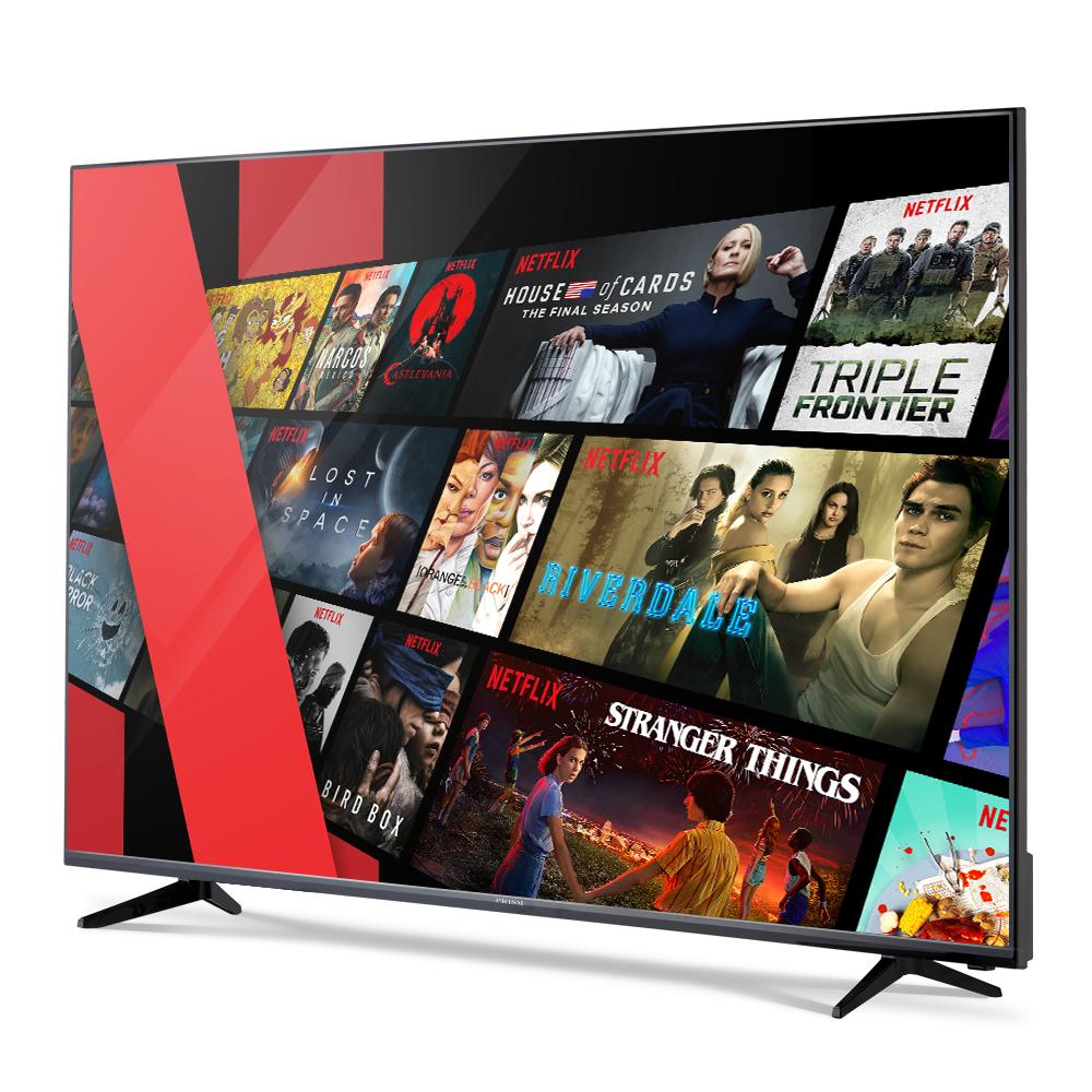 프리즘 스마트 4K HDR TV 165.1cm NETFLIX 5.1 PT65UL + HDMI 케이블, 스탠드형, 방문설치