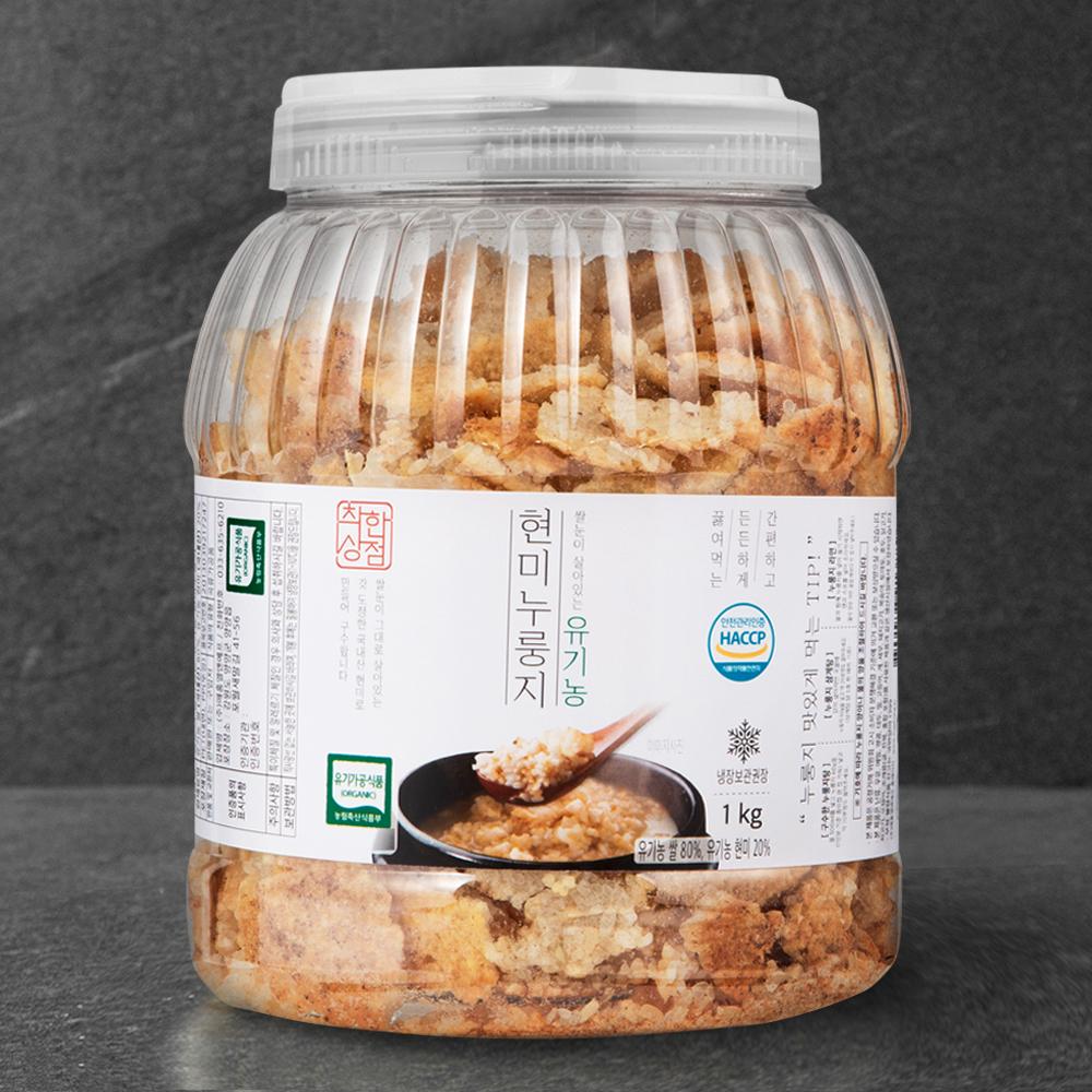 [누룽지] 착한상점 유기가공식품 인증 쌀눈이 살아있는 유기농 현미누룽지, 1kg, 1개 - 랭킹5위 (11900원)